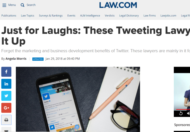 Just for Laughs: These Tweeting Lawyers Yuck It Up