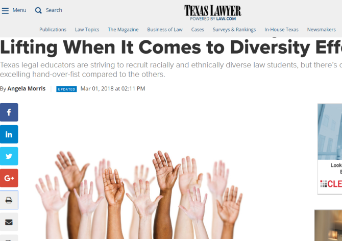 One Texas Law School Is Doing the Heavy Lifting When It Comes to Diversity Efforts